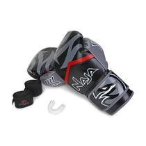 Kit Luva de Boxe / Muay Thai Naja New Extreme + Bandagem + Protetor Bucal 14 Oz -