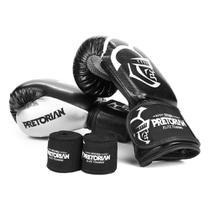 Kit Luva de Boxe/Muay Thai Pretorian Elite 14 Oz + Bandagem + Protetor Bucal -