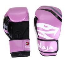 Kit Luva de Boxe Naja 10 oz + Bandagem + Protetor Bucal -