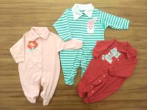 Kit Macacão 3 Peças Roupinha de Bebê Pijama Recém Nascido Verão Meninas - Baby Bird