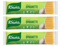 Kit Macarrão Espaguete de Sêmola Knorr Seco - sem Ovos Spaghetti 500g 3 Unidades