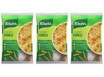 Kit Macarrão Parafuso Seco de Sêmola Knorr  - Sem Ovos Fusilli 500g 3 Unidades