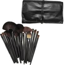 Kit Make Up Pinceis Maquiagem Pincel 24 Pcs Com Estojo - N/a
