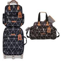 Kit mala de rodinha com bolsa de maternidade e mochila Manhattan - Masterbag Baby -