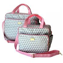 kit mala Maternidade - Lançamento Bolsa bebe mala rosa - Rubi Baby
