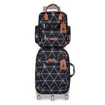 kit mala maternidade mala de rodinha + mochila manhattan masterbag - Masterbag Baby