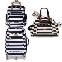 Kit mala maternidade masterbag baby 3 peças c/mala de rodinha -