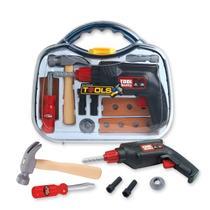 Kit maleta de ferramentas infantil com furadeira martelo chaves e acessorios - Makeda
