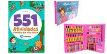Kit maleta escolar 86 pçs com livro 501 atividade - Barô
