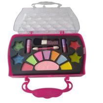 Kit Maleta Maquiagem Infantil Sombras Batom Gloss Make Brinq Polibrinq Anvisa 3 Anos -