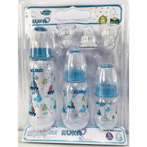Kit Mamadeira bico ortodontico Azul Com 3 Unidades - Kuka -