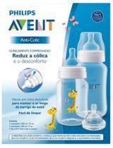 Kit mamadeira Clássica anticólica avent girafa 260/330ml e bico 4 clássica - Philips Avent