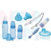 Kit Mamadeira Kuka Aquarela 7 Peças Azul Alimentação/limpeza -