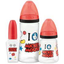 Kit Mamadeira Lillo 50/180/300ml Design Mickey Mouse Disney -