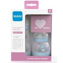 Kit Mamadeira Mam Dupla Easy Start Azul 130ml E 260ml -