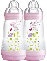 Kit Mamadeira MAM First Bottle Anti-Cólica e Auto-Esterilizáveis 260ml (02 unidades) Menina -