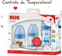 KiT Mamadeira Nuk Anticólica FC 90/150/300ML Controle de Temperatura- Boy -