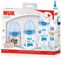 Kit Mamadeira Nuk Starter First Choice Antivazamento Azul -