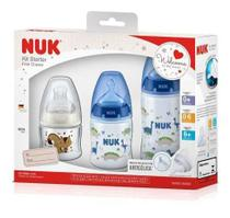 Kit Mamadeira Nuk Starter First Choice Antivazamento Azul -