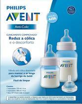 Kit Mamadeiras Anti Colica 125 e 260ml Azul SCD809 Avent -