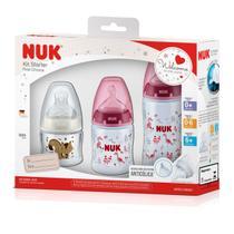 Kit Mamadeiras Nuk Kit Starter First Choice Anti-Cólica -
