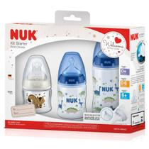 Kit Mamadeiras Starter First Choice Dinossauro 3 peças Nuk -