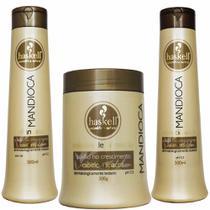 Kit Mandioca Shampoo Condicionador e Máscara Médio - Haskell -