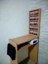 KIT Manicure MDF CRU Mesa 60cm+expositor de esmaltes c/barra de aluminio - Loja Straub