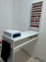 KIT Manicure Mesa 80cm+expositor de esmaltes c/barra de aluminio - Loja Straub