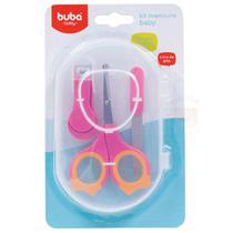 Kit Manicure Para Bebes Rosa 0m+ Buba -
