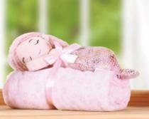 Kit manta Baby com bichinho de pelúcia - Sereia Coleção Fundo do Mar - Bene Casa