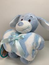 Kit Manta de bebê com bichinho de pelúcia - Coleção carinhosos - Cachorrinho - Bene Casa