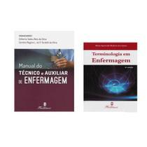 Kit Manual do Técnico e Auxiliar de Enfermagem 2ª Edição + Terminologia em Enfermagem - Editora martinari