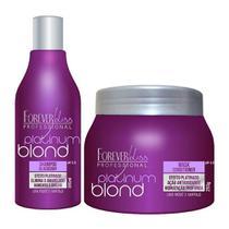 3498d88ec Kit Manutenção Desamarelador Platinum Blond Shampoo e Máscara 300ml - Forever  Liss