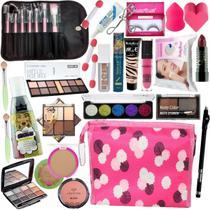Kit Maquiagem Completo Make Transformadora Com Kit Pinceis - Dalla Makeup