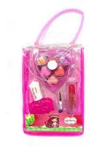 Kit Maquiagem Infantil,bolsa Moranguinho,batom/gloss/esmalte -