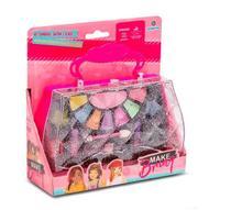 Kit maquiagem infantil  maleta mk06 - polibrinq -