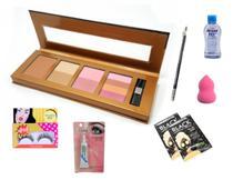 Kit Maquiagem Paleta Blush e Bronzer Cancun Fenzza -
