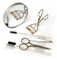 Kit Maquiagem para os Olhos com Espelho de Aumento - Basicare -
