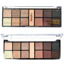 Kit Maquiagem Ruby Rose Paleta Sombra 12 Cores + Primer 3d Naught by Natural Palette -