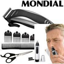Kit Maquina Cortar Cabelo+aparador de pelos nariz e orelha  220W - Mondial