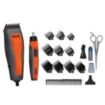 kit Máquina de Cortar Cabelo Wahl + Aparador Nasal Combo Cut 8 Pentes -