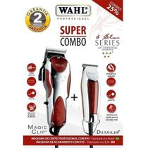 Kit Máquina De Corte Wahl Clipper Magic Clip E Detailer -