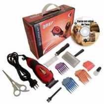 Kit maquina de tosa aparador de pelo profissional para caes, gatos - Gimp