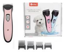 Kit Maquina De Tosa Aparadora Profissional P/ Cachorro Pets - Aiker