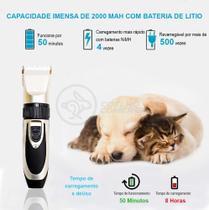 Kit Maquina de Tosa Pet Clipper Sem Fio Cães E Gatos FZF-230 - ebai -