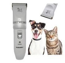 Kit Maquina De Tosa Profissional Cães Gatos Cortar Pelos Pet - Dacar