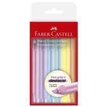 Kit Marca Texto Grifpen Pastel 6 Cores Faber Castell - Faber - Castell -
