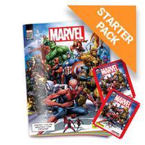 Kit Marvel 80 Anos - Álbum Capa Cartão + 12 envelopes - Panini