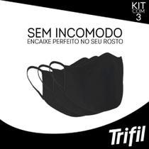 Kit máscara lavável e reutilizável dupla face 3x1 trifil ref6103 -